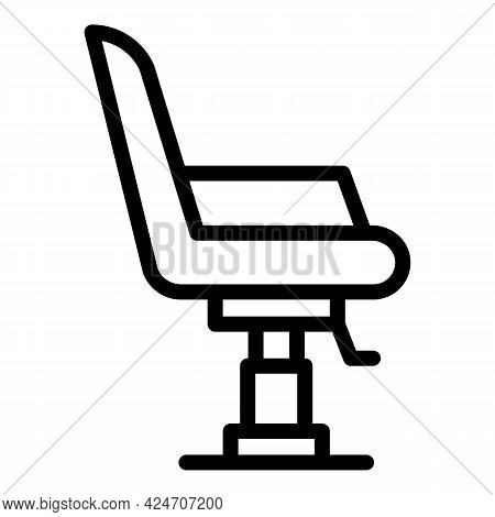 Coiffure Chair Icon. Outline Coiffure Chair Vector Icon For Web Design Isolated On White Background