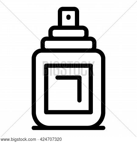 Coiffure Spray Icon. Outline Coiffure Spray Vector Icon For Web Design Isolated On White Background