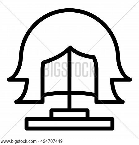 Beautiful Wig Icon. Outline Beautiful Wig Vector Icon For Web Design Isolated On White Background