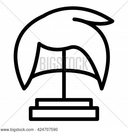 Female Wig Icon. Outline Female Wig Vector Icon For Web Design Isolated On White Background