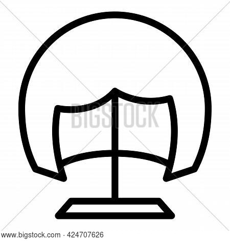 Accessories Wig Icon. Outline Accessories Wig Vector Icon For Web Design Isolated On White Backgroun