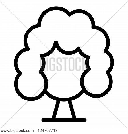 Young Wig Icon. Outline Young Wig Vector Icon For Web Design Isolated On White Background