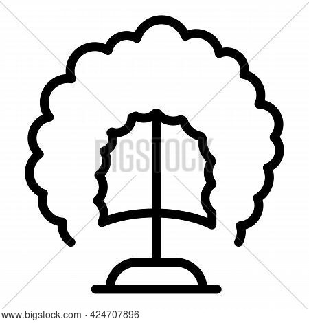 Hairstyle Wig Icon. Outline Hairstyle Wig Vector Icon For Web Design Isolated On White Background