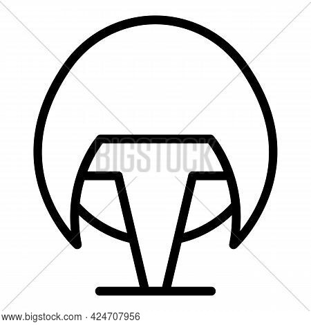 Haircut Wig Icon. Outline Haircut Wig Vector Icon For Web Design Isolated On White Background