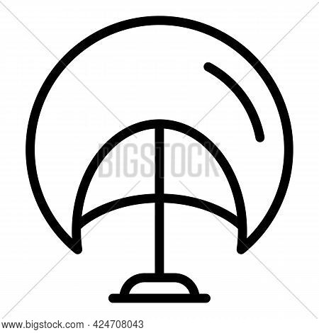 Adult Wig Icon. Outline Adult Wig Vector Icon For Web Design Isolated On White Background