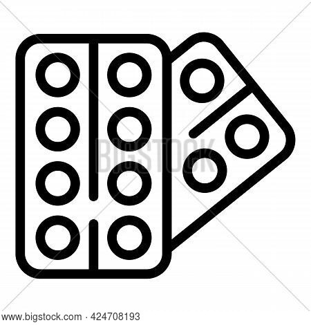 Campsite Pills Icon. Outline Campsite Pills Vector Icon For Web Design Isolated On White Background