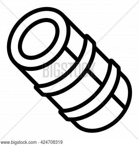 Campsite Mat Roll Icon. Outline Campsite Mat Roll Vector Icon For Web Design Isolated On White Backg