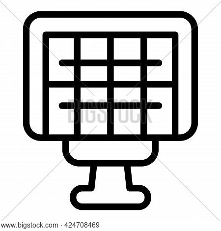 Campsite Bbq Net Icon. Outline Campsite Bbq Net Vector Icon For Web Design Isolated On White Backgro