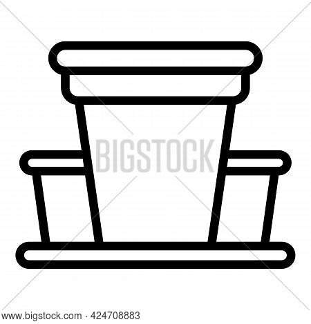 Campsite Building Icon. Outline Campsite Building Vector Icon For Web Design Isolated On White Backg