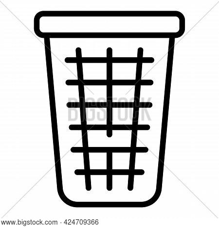 Dustbin Icon. Outline Dustbin Vector Icon For Web Design Isolated On White Background