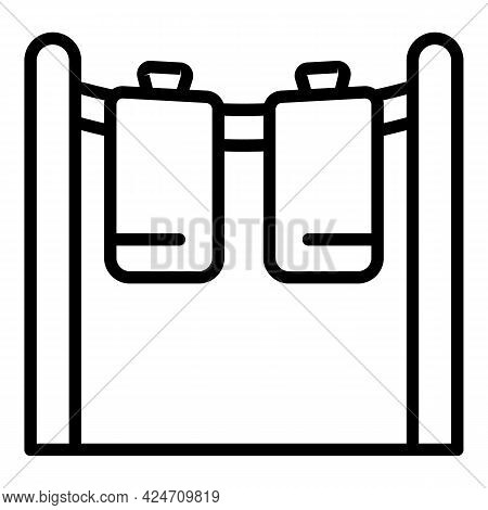 Drying Clothes Icon. Outline Drying Clothes Vector Icon For Web Design Isolated On White Background