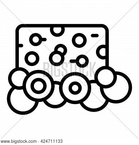 Cleaning Sponge Icon. Outline Cleaning Sponge Vector Icon For Web Design Isolated On White Backgroun