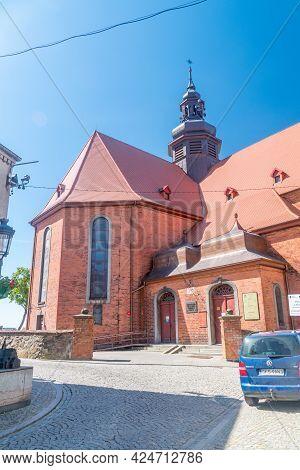 Koscierzyna, Poland - May 31, 2021: Roman Catholic Holy Trinity Parish In Koscierzyna.