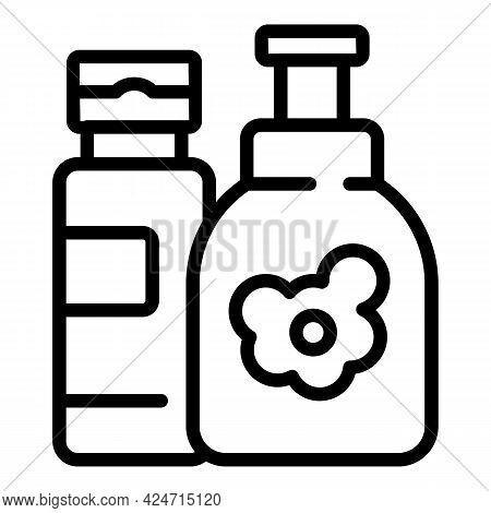 Korean Cosmetics Icon. Outline Korean Cosmetics Vector Icon For Web Design Isolated On White Backgro