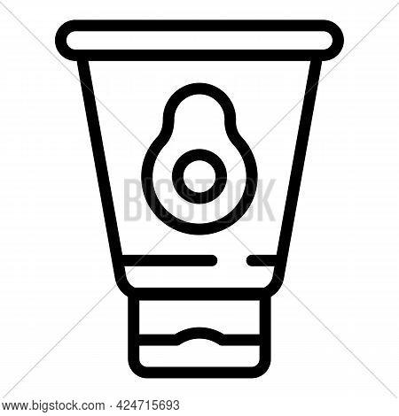 Korean Cosmetics Cream Tube Icon. Outline Korean Cosmetics Cream Tube Vector Icon For Web Design Iso