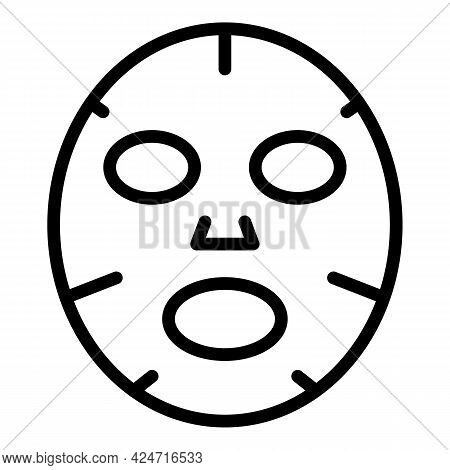 Korean Cosmetics Face Mask Icon. Outline Korean Cosmetics Face Mask Vector Icon For Web Design Isola