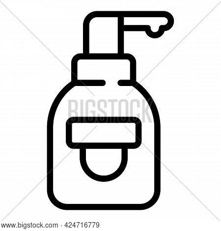 Korean Cosmetics Perfume Bottle Icon. Outline Korean Cosmetics Perfume Bottle Vector Icon For Web De