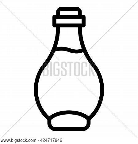 Korean Cosmetics Oil Bottle Icon. Outline Korean Cosmetics Oil Bottle Vector Icon For Web Design Iso
