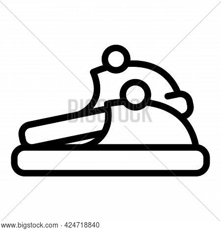 Home Slippers Clothing Icon. Outline Home Slippers Clothing Vector Icon For Web Design Isolated On W