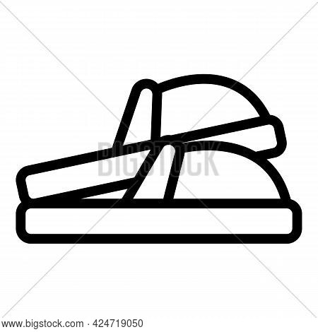 Home Slippers Domestic Icon. Outline Home Slippers Domestic Vector Icon For Web Design Isolated On W