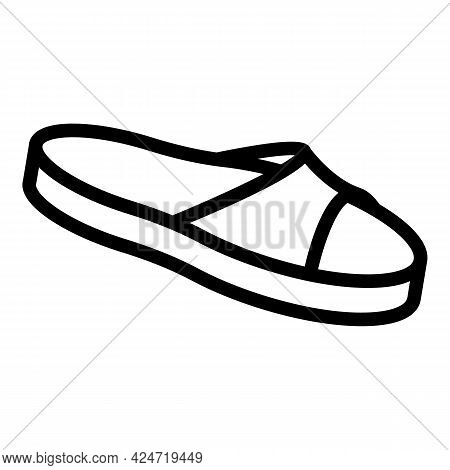 Home Slippers Funny Icon. Outline Home Slippers Funny Vector Icon For Web Design Isolated On White B