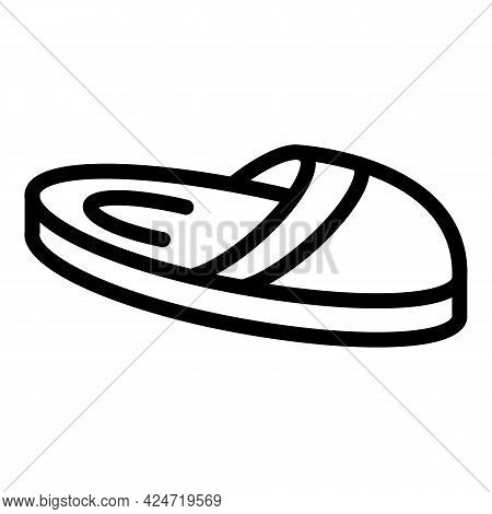 Home Slippers Comfortable Icon. Outline Home Slippers Comfortable Vector Icon For Web Design Isolate