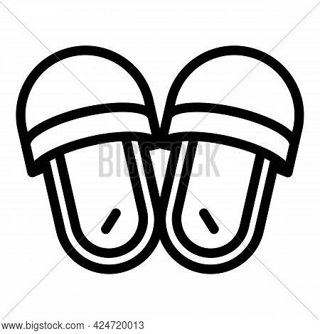 Home Slippers Material Icon. Outline Home Slippers Material Vector Icon For Web Design Isolated On W