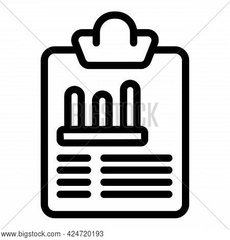 Clipboard Marketing Icon. Outline Clipboard Marketing Vector Icon For Web Design Isolated On White B