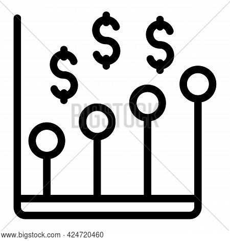Marketing Finance Graph Icon. Outline Marketing Finance Graph Vector Icon For Web Design Isolated On