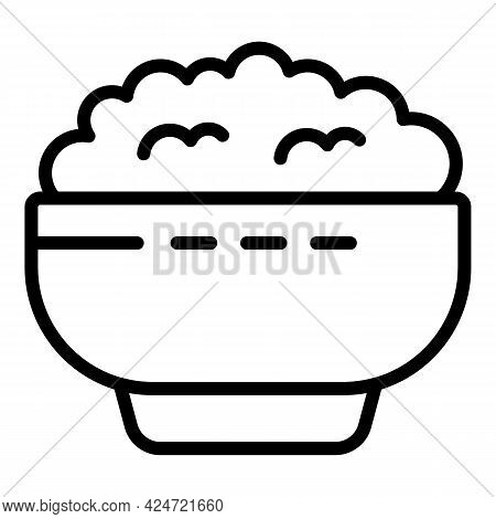 Lentil Food Bowl Icon. Outline Lentil Food Bowl Vector Icon For Web Design Isolated On White Backgro