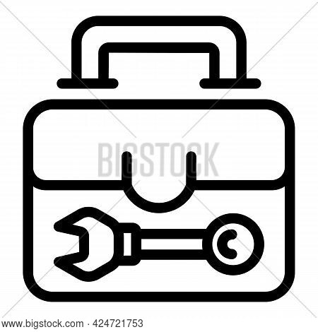 Repair Air Conditioner Box Icon. Outline Repair Air Conditioner Box Vector Icon For Web Design Isola