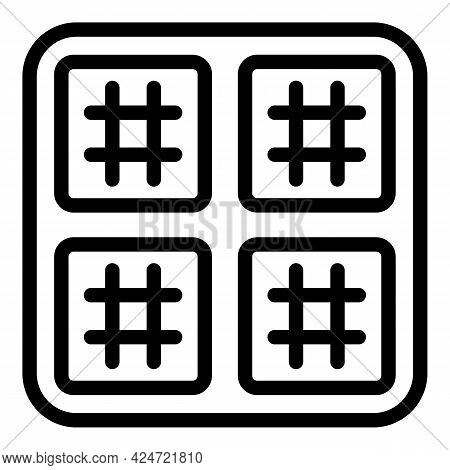 Repair Air Conditioner Frame Icon. Outline Repair Air Conditioner Frame Vector Icon For Web Design I