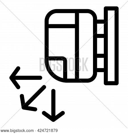 Repair Air Conditioner Direction Icon. Outline Repair Air Conditioner Direction Vector Icon For Web