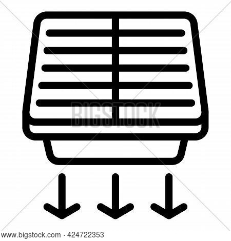 Repair Air Conditioner Net Frame Icon. Outline Repair Air Conditioner Net Frame Vector Icon For Web
