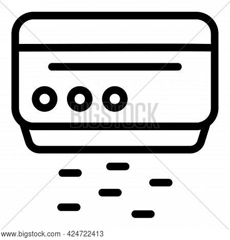 Repair Air Conditioner Working Icon. Outline Repair Air Conditioner Working Vector Icon For Web Desi