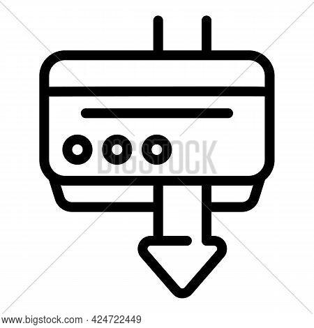 Repair Air Conditioner Pump Icon. Outline Repair Air Conditioner Pump Vector Icon For Web Design Iso