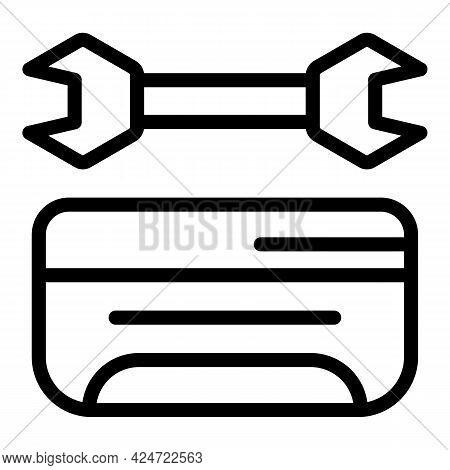 Repair Air Conditioner Clean Icon. Outline Repair Air Conditioner Clean Vector Icon For Web Design I