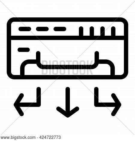 Repair Air Conditioner Service Icon. Outline Repair Air Conditioner Service Vector Icon For Web Desi