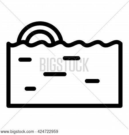 Repair Dishwasher Water Fill Icon. Outline Repair Dishwasher Water Fill Vector Icon For Web Design I