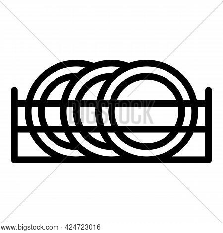 Repair Dishwasher Plates Icon. Outline Repair Dishwasher Plates Vector Icon For Web Design Isolated