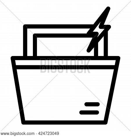 Repair Dishwasher Electric Icon. Outline Repair Dishwasher Electric Vector Icon For Web Design Isola