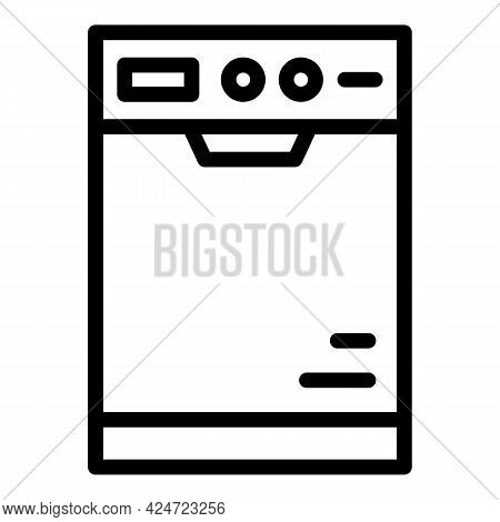 Repair Dishwasher Box Icon. Outline Repair Dishwasher Box Vector Icon For Web Design Isolated On Whi