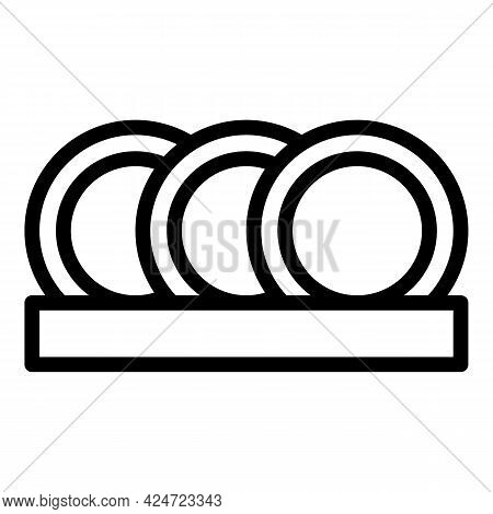 Repair Dishwasher House Icon. Outline Repair Dishwasher House Vector Icon For Web Design Isolated On