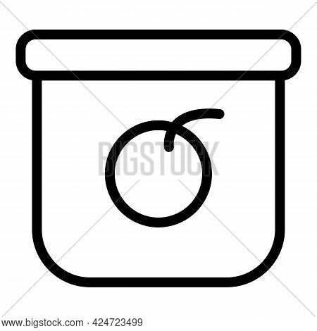 Take Away Food Icon. Outline Take Away Food Vector Icon For Web Design Isolated On White Background
