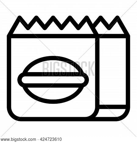 Take Away Fast Food Icon. Outline Take Away Fast Food Vector Icon For Web Design Isolated On White B