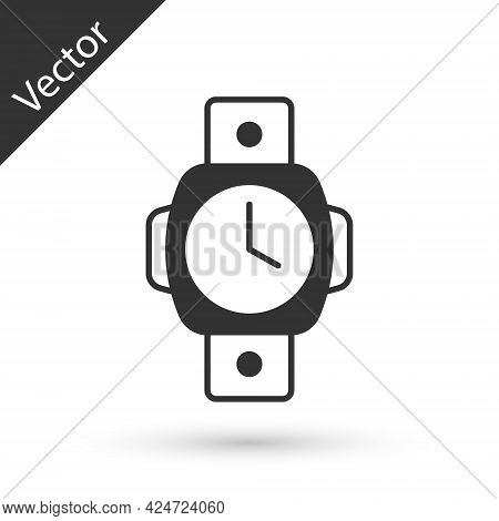 Grey Diving Watch Icon Isolated On White Background. Diving Underwater Equipment. Vector