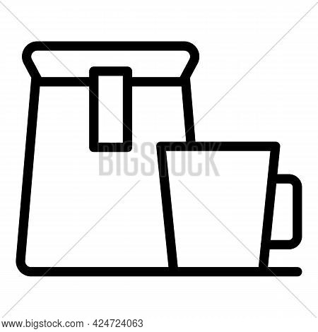 Take Away Drinks Icon. Outline Take Away Drinks Vector Icon For Web Design Isolated On White Backgro
