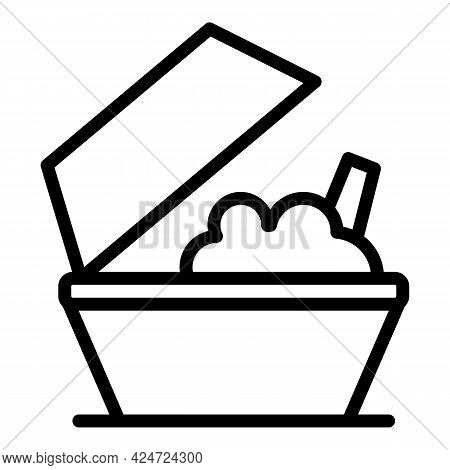 Take Away Lunch Icon. Outline Take Away Lunch Vector Icon For Web Design Isolated On White Backgroun