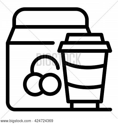 Take Away Delivery Food Icon. Outline Take Away Delivery Food Vector Icon For Web Design Isolated On