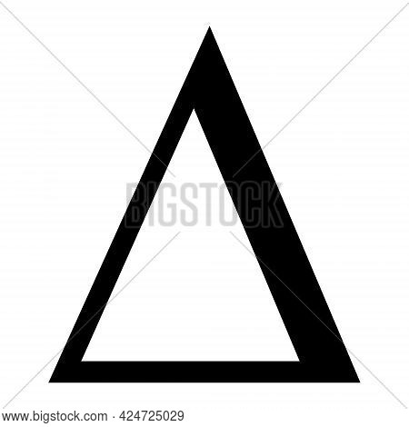 Delta Letter Icon On A White Background. Isolated Delta Letter Symbol With Flat Style.